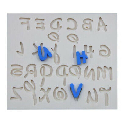 Silicone 3D Letter Fondant Mould Message Board Cake Soap Mold Decorating Tool BS