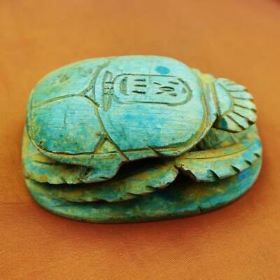 UNIQUE Antique Egyptian Amulet of Ancient Beetle Scarab Collection