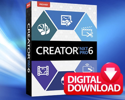Roxio Creator NXT pro 6 Licence Key-Lifetime Powerful DVD burning-Download-full