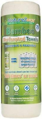 2 pack Naturezway Bamboo Perforated Towels - 25 x 2= 50 sheets total