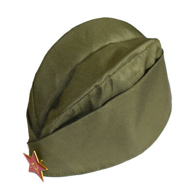 5674be129 WWII USSR SOVIET Military Army Garrison Cap With Red Star Uniform ...