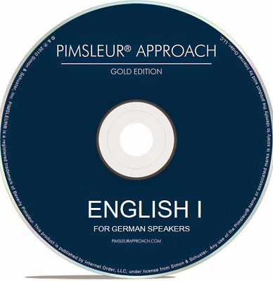 Pimsleur ENGLISH I (for German Speakers) - Gold Edition - 16 CDs - Level 1