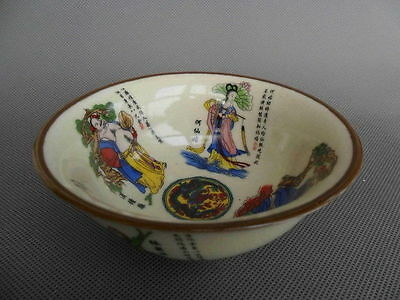 DELICATE CHINESE PORCELAIN HANDWORK CARVED EIGHT IMMORTALS VASE