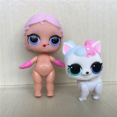 2pcs LOL Surprise Pets Doll Animals Big Sister BOSS QUEEN+Baby Dog Girl Gift