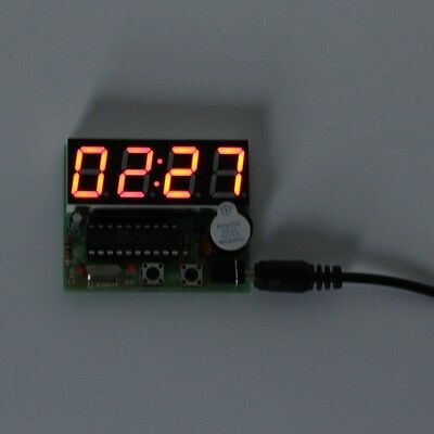 C51 4 Bits Digital LED Electronic Clock Production Suite DIY Kits Set