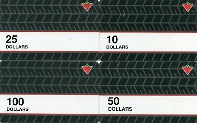 Canadian Tire Money - 4  scarce gift cards