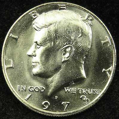 1973 D Uncirculated Kennedy Half Dollar BU (B03)