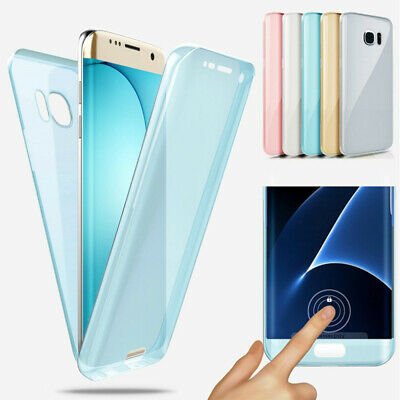Ultra-thin Transparent 360°Full Body Silicone Phone Case Cover Protective