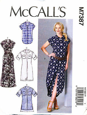 Mccall's Sewing Pattern 7387 Misses Sz 16-26 Top, Tunic & Dresses In Plus Sizes