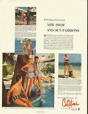 1953 vintage AD, CATALINA, New Swimsuits and Sunsuit Fashions -082413