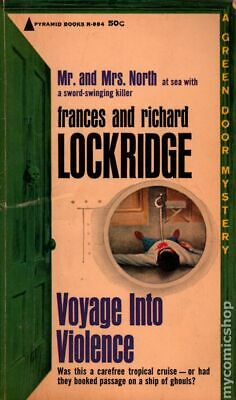 Voyage Into Violence (Good) Mr. and Mrs. North Mystery Pyramid R-884 1963