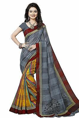 Indian Traditional Women?s Bhagalpuri Silk Designer Saree With Blouse Piece