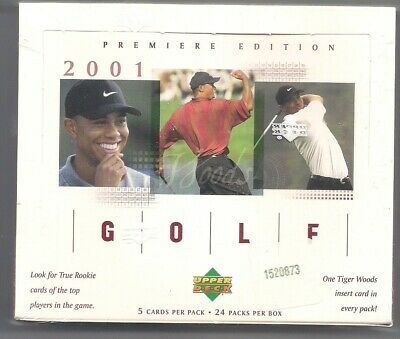 2001 Upper Deck GOLF Masters National TIGER WOODS ROOKIE 24 PACK BOX SEALED MINT