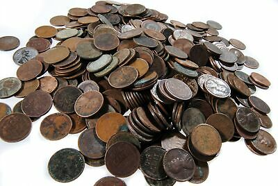 Lincoln Wheat Cents CULLS 50-coin lot