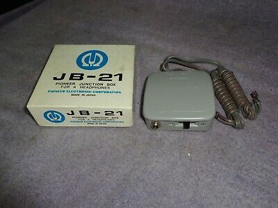 VINTAGE Pioneer Junction Box For Stereo Headphones JB-21 NOS WITH ORIGINAL BOX