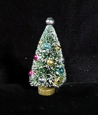 Fabulous Miniature Bottle Brush Tree With Pastel Christmas Balls