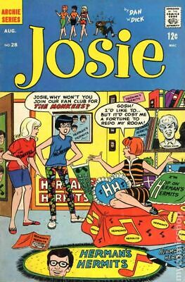 Josie and the Pussycats (1st Series) #28 1967 VG 4.0 Stock Image Low Grade