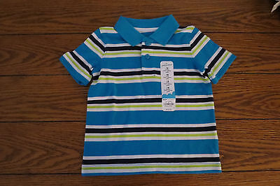 Boys SS Polo Shirt Sz 18 mo Stripes 100% Cotton Everyday Jumping Beans NWT