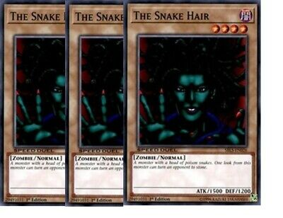 3 x The Snake Hair  SBLS-EN026  Common 1st Ed YuGiOh Cards