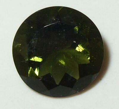 4.44ct Faceted TOP QUALITY Natural Czechoslovakia Moldavite Round Cut 12mm