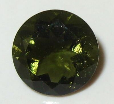 3.87ct Faceted TOP QUALITY Natural Czechoslovakia Moldavite Round Cut 11mm