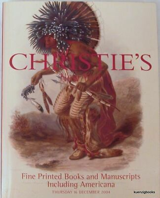 Christie's New York / Fine Printed Books and Manuscripts including Americana 1st