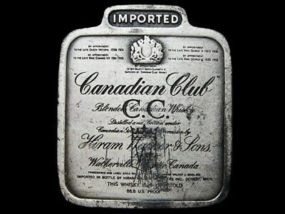 Lc11130 Vintage 1975 ***Canadian Club Whiskey*** Booze Belt Buckle