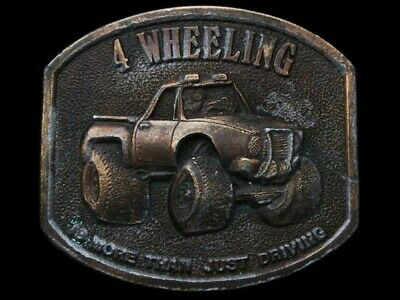 JL03120 VINTAGE 1976 **4 WHEELING - MORE THAN JUST DRIVING** 4x4 BELT BUCKLE