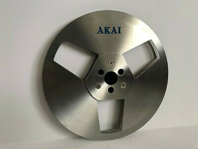 """Clean AKAI factory METAL 7"""" Take-up Reel for 1/4"""" Tape GX-77 747 635D 636 4000DS"""