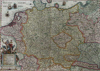 Deutschland Polen Ungarn Germania Janssonius 1658