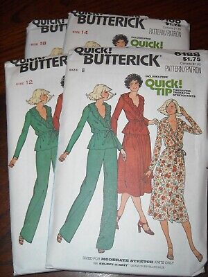 UNCIRCULATED 1978 BUTTERICK #6240-LADIES FAST /& EASY RETRO DRESS PATTERN 8-18 FF