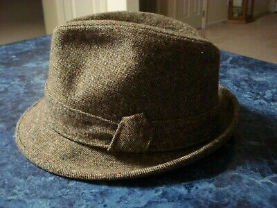 0873a3aebb261 VINTAGE STETSON MEN S Fedora Unused Mint In Box Size Size 7-1 8 Wool ...