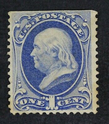 CKStamps: US Stamps Collection Scott#145 1c Franklin Unused NG Light Toned