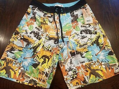 4270dae770 NWT Bright Bold Hawaii Hawaiian OP Surf Board Shorts Swim Trunks Aloha 32