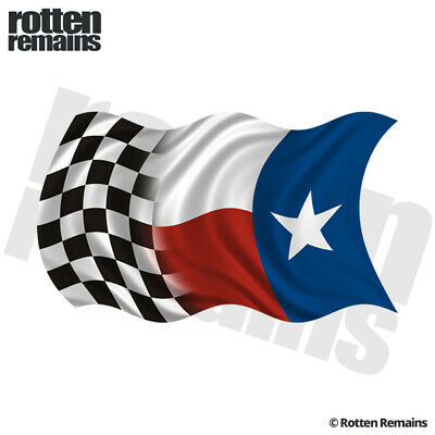 Texas State Racing Checkered Flag Decal Texan Car Vinyl Sticker Lh Evm