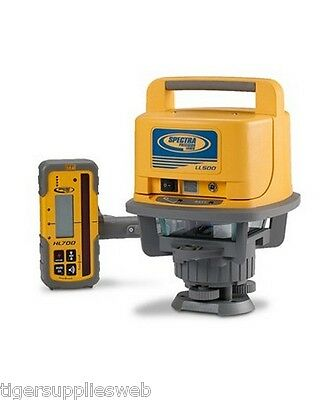Trimble Spectra LL500 Rotary Laser Level HL700 Receiver Rechargeable Batteries