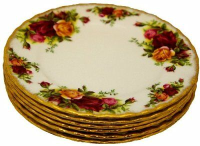 Royal Albert Old Country Roses - Set of 6 Side Plates - 1st's - Made in England
