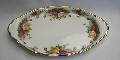 Royal Albert Old Country Roses Oval Tray or Under Plate for Lg Creamer/Sugar