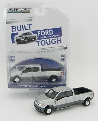 1:64 GreenLight *ANNIVERSARY COLLECTION* Silver 2019 Ford F350 Dually Pickup NIP