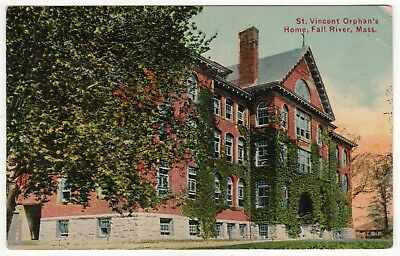 FALL RIVER MASSACHUSETTS PC Postcard ST VINCENT ORPHAN'S HOME Saint ORPHANAGE