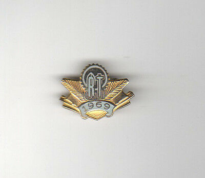 1969 WORLD ORT Lapel Pin PINBACK Jewish JUDAISM Technology JEW Education TECH