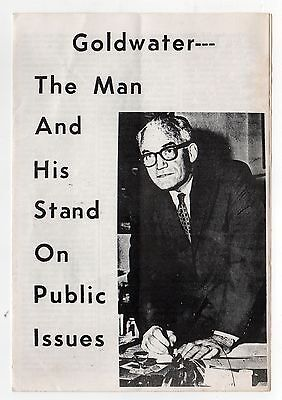 1964 BARRY GOLDWATER President POLITICAL Brochure MASSACHUSETTS Boston CAMPAIGN