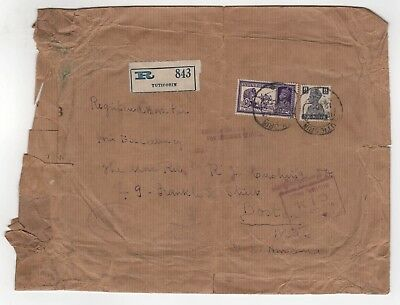 1942 TUTICORIN INDIA COVER Thoothukudi BOSTON USA Catholic Church TAMIL NADU US
