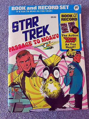 1975 STAR TREK Passage to Moauv BOOK RECORD SET Paramount Pictures SCI FI