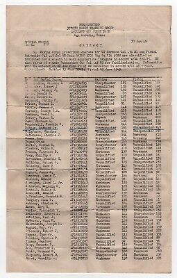 1949 LACKLAND AIR FORCE BASE AFB 3700th Basic Training SHOOTING Document TEXAS