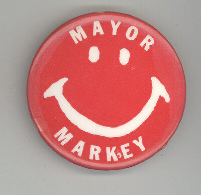 JOHN MARKEY New Bedford Mayor MASSACHUSETTS Political PINBACK Button MASS MA