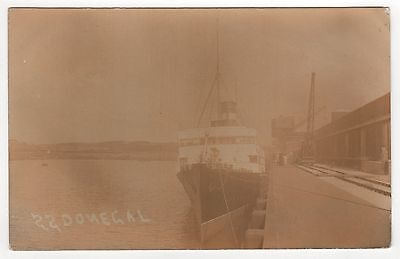1904 SS DONEGAL RPPC Real Photo Postcard MORECAMBE LANCASHIRE England UK Midland