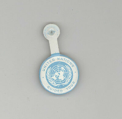 1960s UNITED NATIONS GUIDED TOUR Tab PASS New York City HEADQUARTERS HQ UN NYC