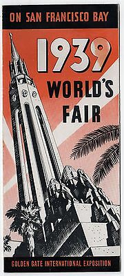 1939 SAN FRANCISCO Golden Gate Exposition EXPO Brochure WORLD'S FAIR SF Bay CA