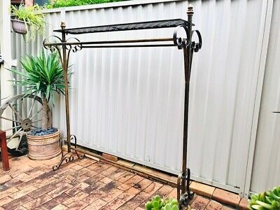 Strong Quality Iron Clothes Rack 2 Rails Shelf Stand Home Fashion Shop DRS005BRS